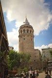 Galata torn Fotografering för Bildbyråer