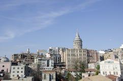 Galata torn i det Galata området, Istanbul stad, Turkiet Royaltyfri Bild