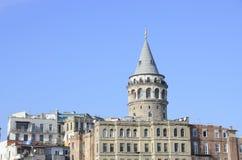 Galata torn i det Galata området, Istanbul stad, Turkiet Royaltyfria Bilder