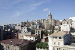 Galata torn i det Galata området, Istanbul stad, Turkiet Arkivfoto