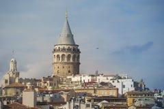 Galata torn i Istanbul i Oktober Royaltyfria Bilder