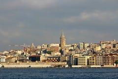 Galata torn i Istanbul, Turkiet arkivfoton