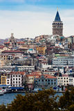 Galata Tower. This picture is for an old tower in Istanbul named Galata Royalty Free Stock Photo