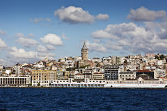 Galata Tower. An image of the ancient but well preserved galata tower situated in the turkish city of Istanbul Stock Photo