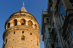 Galata Tower. In Istanbul Turkey Royalty Free Stock Photo