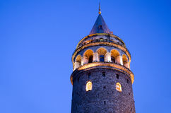 Galata Tower. In Istanbul Turkey Royalty Free Stock Photos