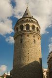 Galata Tower. Was built as Christea Turris in 1348 during an expansion of the Genoese colony in Constantinople. At 66.9 m high, it was the tallest structure in royalty free stock photos