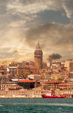 Galata Tower. In Istanbul Turkey royalty free stock image