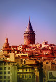 Galata Tower beyoglu stock photo
