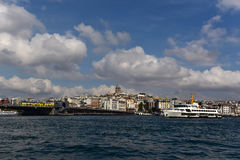 Galata Tower and Beyoglu. Dictrict Royalty Free Stock Photography