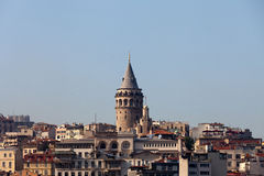 Galata tower in Beyoglu district of Istanbul, Stock Photo