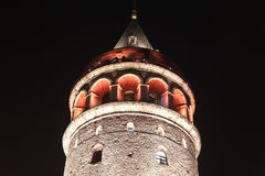 Galata Tower in Beyoglu, Istanbul Stock Images