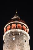Galata Tower in Beyoglu, Istanbul City Stock Image