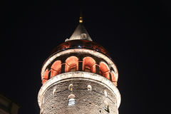 Galata Tower in Beyoglu, Istanbul Royalty Free Stock Photos