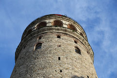 Galata Tower in Beyoglu, Istanbul, Turkey. Galata Tower in Beyoglu, Istanbul City, Turkey Stock Photo
