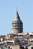 Galata Tower between buildings Royalty Free Stock Image