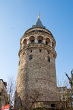 Galata Tower from Byzantium times in Istanbul. View of the Galata Tower from Byzantium times in Istanbul royalty free stock image