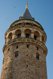 Galata Tower from Byzantium times in Istanbul. View of the Galata Tower from Byzantium times in Istanbul royalty free stock photo