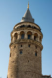 Galata Tower from Byzantium times in Istanbul. View of the Galata Tower from Byzantium times in Istanbul royalty free stock photography
