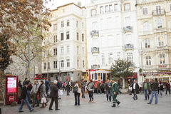 Galata tower district in Istanbul Stock Images