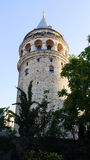 Galata tower in the evening Royalty Free Stock Photography