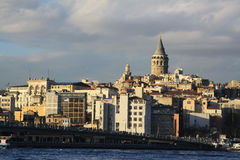 Galata Tower and Galata Bridge Royalty Free Stock Photo