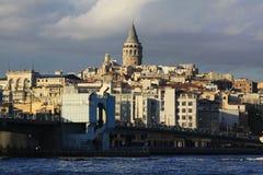 Galata Tower and Galata Bridge Royalty Free Stock Image