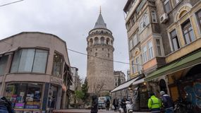 Galata tower - Istanbul royalty free stock photos