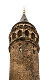 Galata tower isolated on white Stock Photos