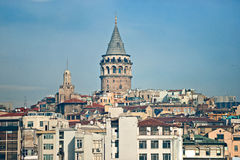 Galata tower , Istanbul. Royalty Free Stock Photo