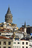 Galata tower istanbul -2010 capital of culture. Galata tower and the old town stock photography