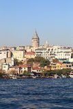 The Galata Tower in Istanbul Stock Images