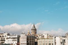 Galata Tower and Istanbul Stock Image