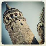 Galata Tower in Istanbul. Galata Tower Building in Istanbul, Turkey