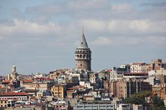 Galata Tower in Istanbul. A view of Galata Tower Royalty Free Stock Images