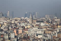 Galata Tower in Istanbul City Stock Images
