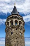 Galata tower - Istanbul landmark, Turkey. Stock Images