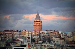 Galata tower, Istanbul stock photography