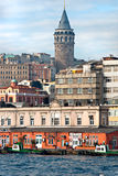 Galata tower, Istanbul, Turkey. Royalty Free Stock Photography
