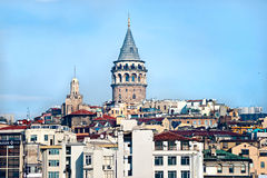 Galata tower, Istanbul, Turkey. Stock Images