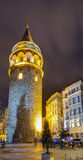 Galata Tower, Istanbul, Turkey. The Galata Tower (Galata Kulesi in Turkish) is a medieval stone tower in the Galata/Karakoy quarter of Istanbul, Turkey royalty free stock image