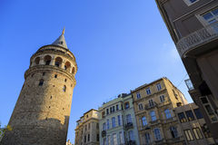 Galata Tower in Istanbul, Turkey. Royalty Free Stock Images