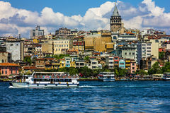Galata tower in Istanbul, Turkey Royalty Free Stock Photo