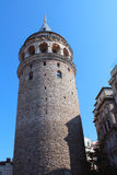 Galata Tower in Istanbul, Turkey Royalty Free Stock Image
