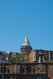 Galata Tower in Istanbul Turkey Royalty Free Stock Photos