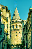 The Galata Tower in Istanbul Royalty Free Stock Photos