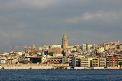 Galata Tower in Istanbul,Turkey. Stock Photos