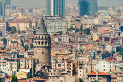 Galata Tower in Istanbul Turkey, Made by Genoese Royalty Free Stock Photography