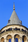 Galata Tower in Istanbul, Turkey Stock Images