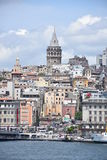 Galata Tower in Istanbul, Turkey royalty free stock photos